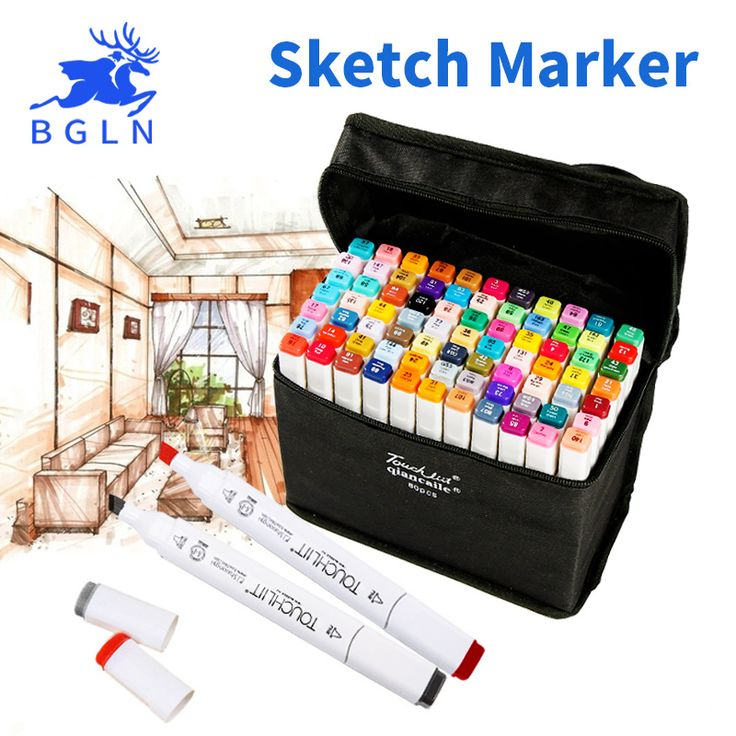 BGLN 30/40/60/80 Colors Set Artist Dual Head Sketch Copic Markers Set For School Drawing Sketch Marker Pen Design Supplies-in Art Markers from Office & School Supplies on Aliexpress.com | Alibaba Group
