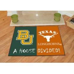 """Baylor Bears-Texas Longhorns House Divided Rug 34""""x45"""""""