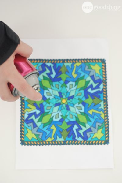 Spray over your kids' artwork to set colored pencils, crayon and markers. It will also preserve chalk art on the sidewalk!