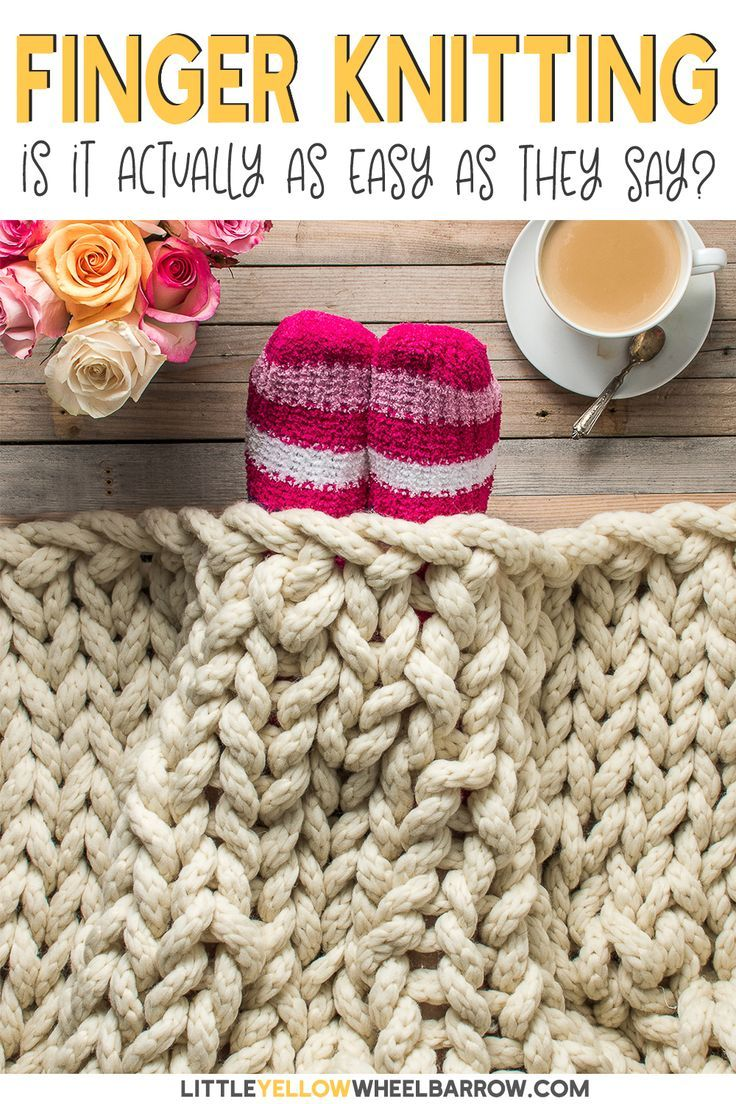 How to Make a Cozy Finger Knit Blanket in Two Hours