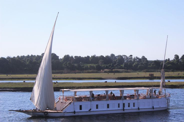 #Nile #Egypt #Yacht # Tourists  Private Egyptian yacht rented to tourists - cruising along the river Nile - Egypt