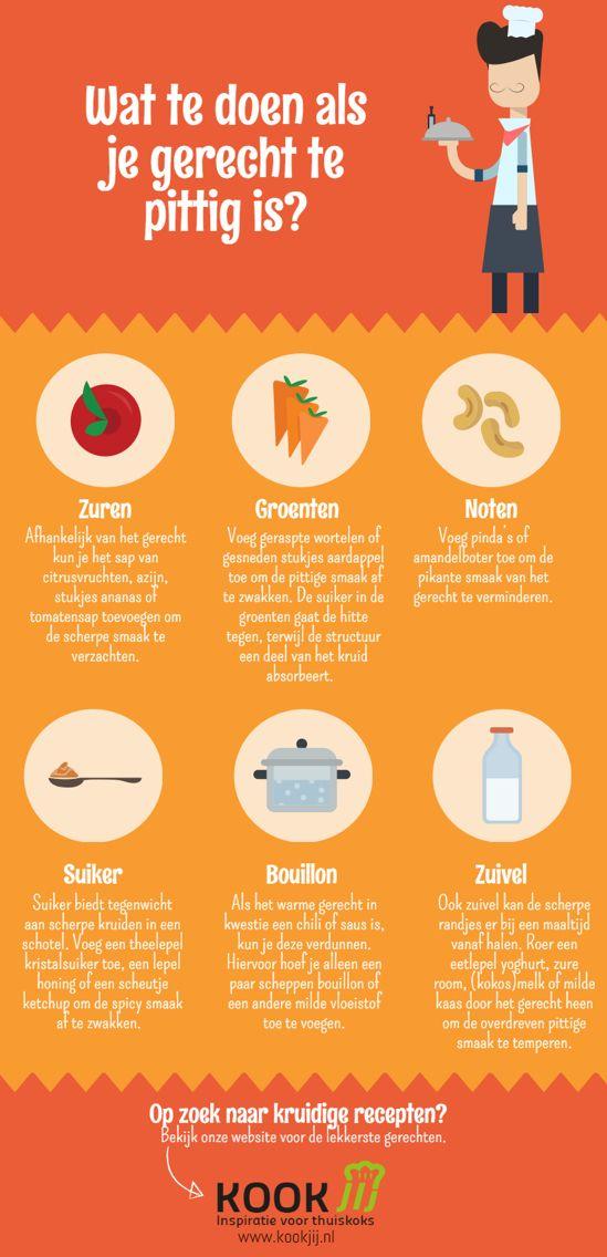 Te pittig eten herstellen doe je met deze tips!