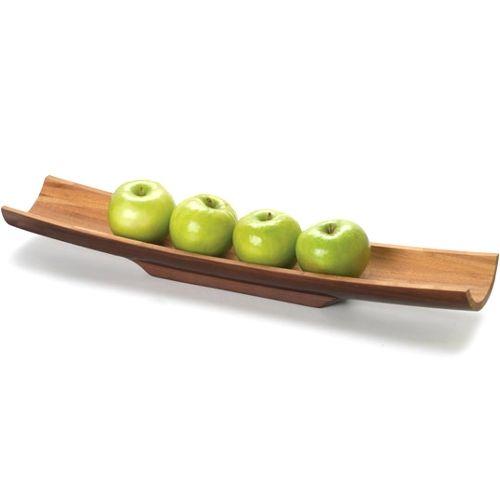 Anchor Hocking Espresso Finish Bamboo Decorative Snack Serving Tray