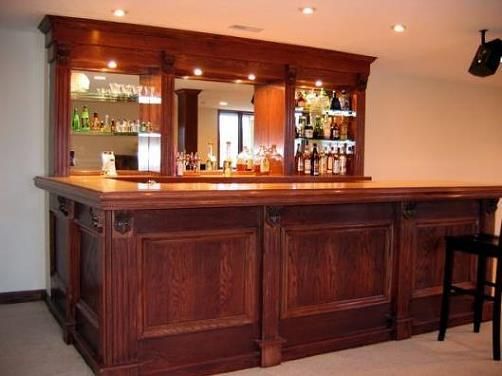 Basement bar designs to your own private bar we can design everything from a small dry bar - House bar design ...