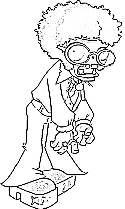 Coloring Pages For Plants Vs Zombies : Plants vs zombie coloring page jay s birthday party