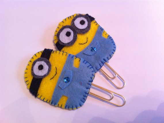 Felt bookmark Minion Despicable Me Handmade by ZoeandCoCrafts, £3.00