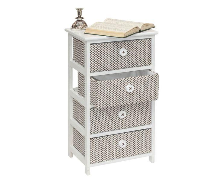 Mobiletto con 4 cassetti in paulownia Embrodery, 40x29x73 cm | Dalani Home & Living