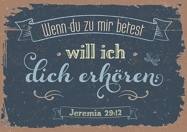 Postkarte - Wenn du betest