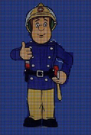 cross stitch chart sam the fireman - חיפוש ב-Google