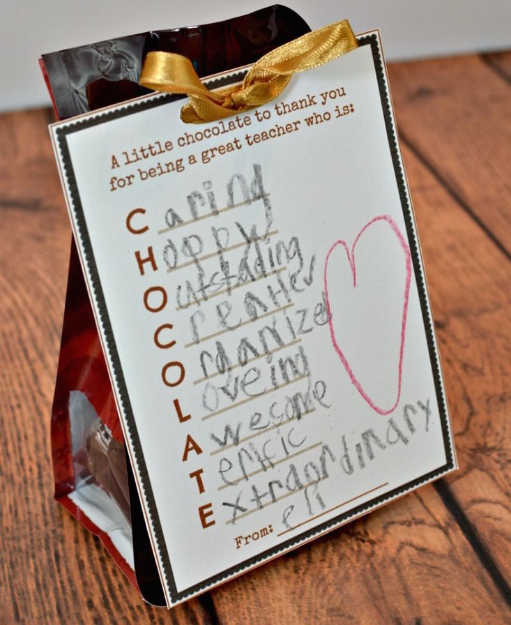 11 Of The Best Teacher Appreciation Day Printables For Tasty Food Gifts
