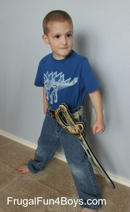 Make a Duct Tape Sheath for Toy Swords - Frugal Fun For Boys