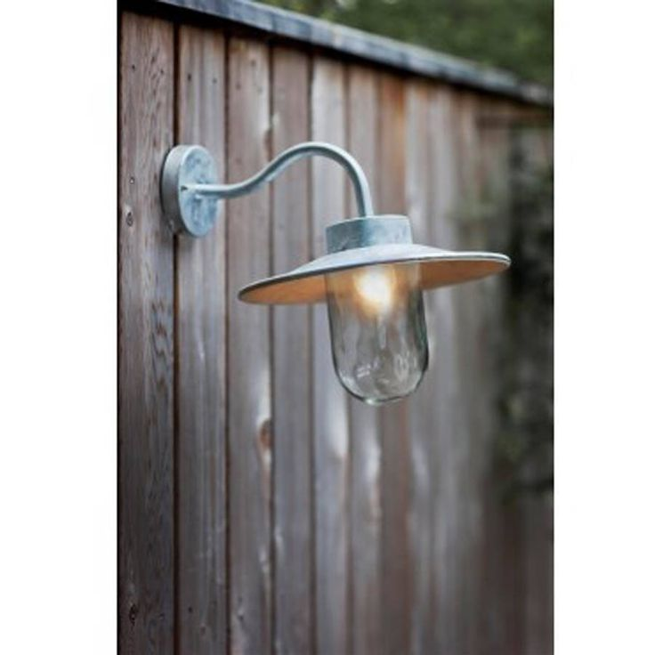 st ives galvanised swan neck wall light by garden selections | notonthehighstreet.com