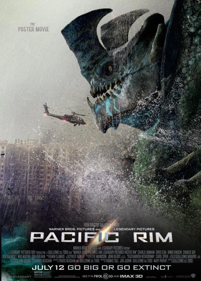 Pacific Rim (2013, dir. Guillermo del Toro) is muuuuuch better than this year's Godzilla.