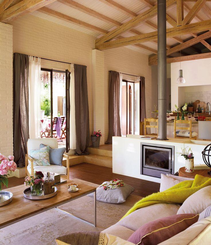 17 mejores ideas sobre cortinas rusticas en pinterest for Cortinas salon rustico