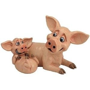 Pets With Personality - Pig & Piglet 5507 Available @ Li'l Treasures $68. (International Shipping available)