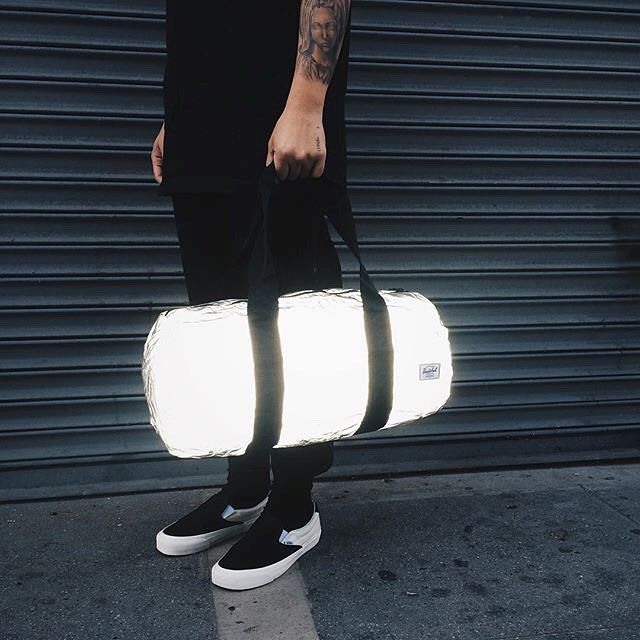 "11.9k Likes, 113 Comments - Herschel Supply Co (@herschelsupply) on Instagram: ""Lightweight, reflective and packable. Photo: @clsc.la #HerschelSupply #PackableDuffle"""