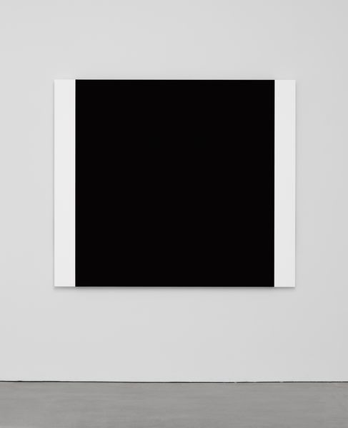 Ellsworth Kelly, Black with Two Whites 2013 Oil on canvas, three joined panels 60 1/8 x 69 7/8 inches; 153 x 178 cm