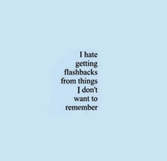 i hate getting flashbacks, blue, black