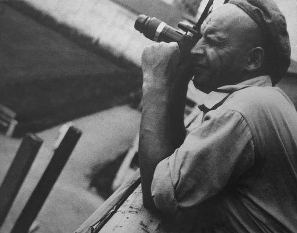 Анатолий Скурихин. Александр Родченко на строительстве Беломорканала. 1933 год © Музей «Московский дом фотографии»