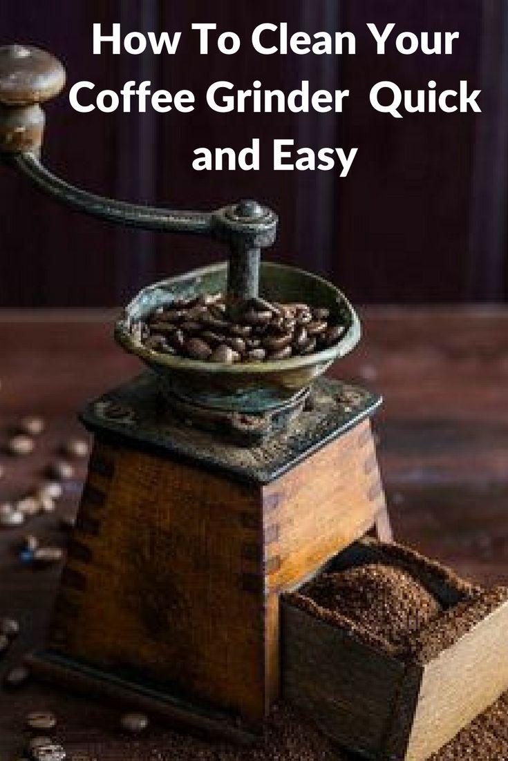 A Clean Coffee Grinder In Under 1-Minute