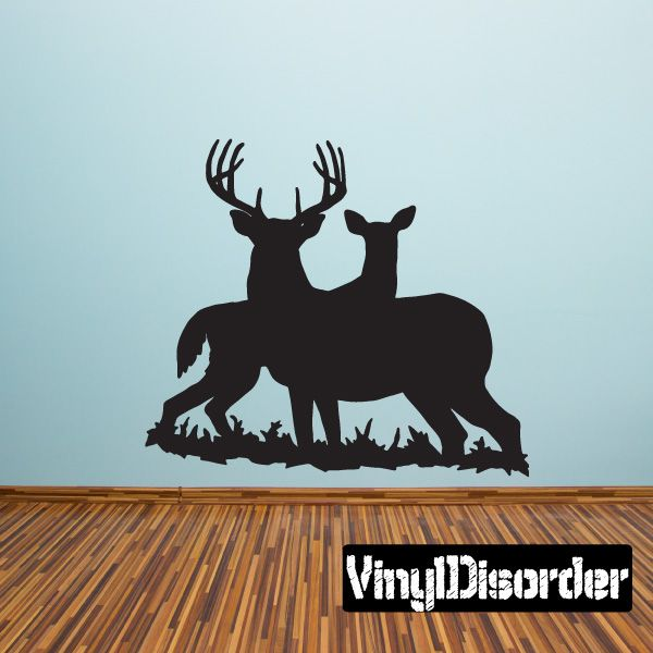 Family deer wall decal vinyl decal car decal 001