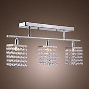 Chandelier with 3 lights in Crystal - Linear ... – GBP £ 33.01
