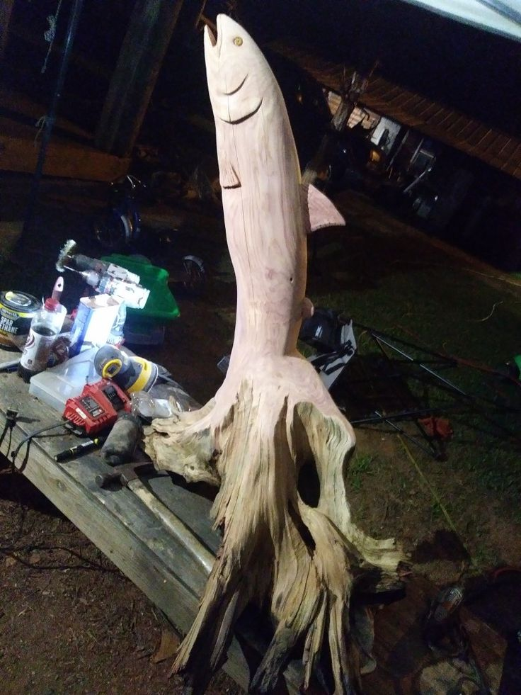 Best chainsaw fish carving images on pinterest