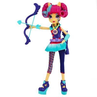 My Little Pony Equestria - Boneca Sour Sweet estilo esportivo arco e flecha