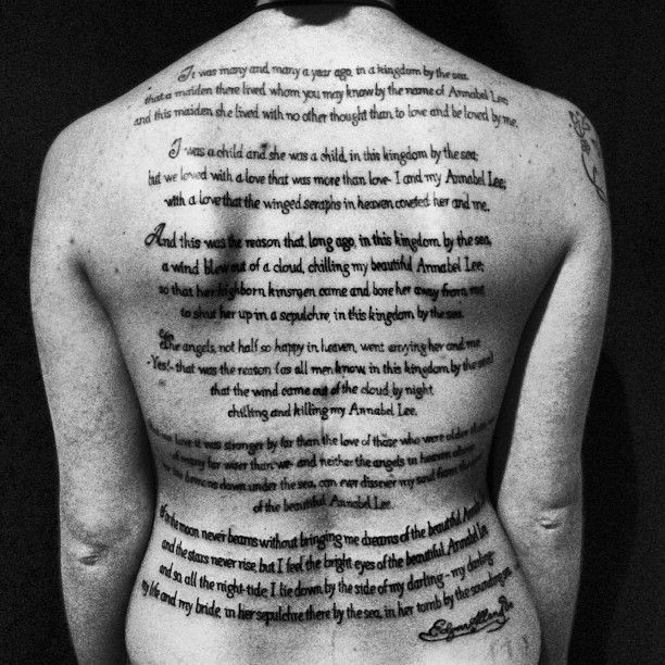 """Tattoo Quotes Poetry: """"Annabel Lee"""" By Edgar Allan Poe"""