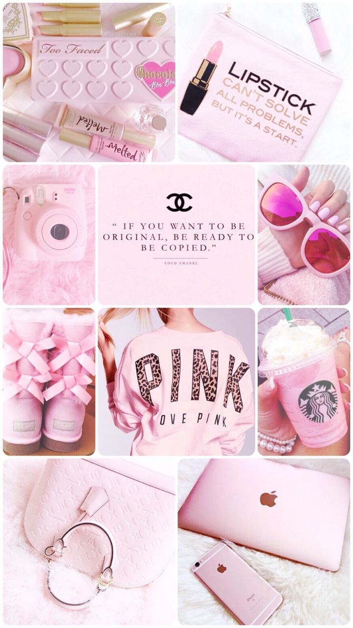 girly collage wallpaper - photo #12