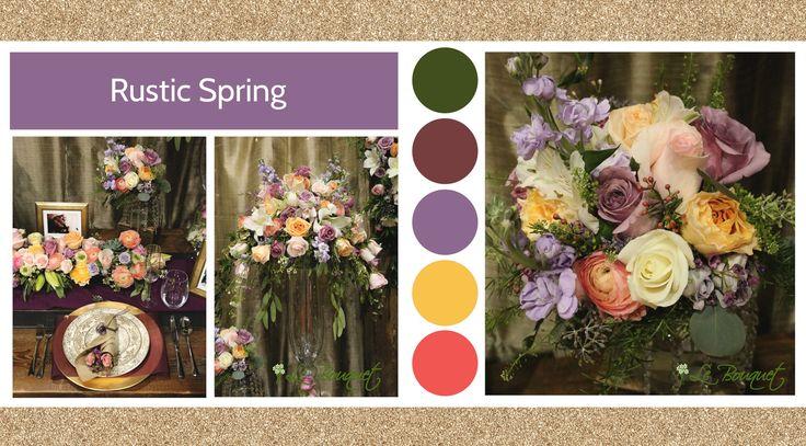 Rustic Spring style board by Le Bouquet Weddings | Le Bouquet St-Laurent Florist
