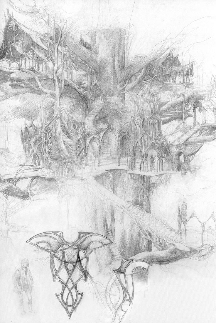 From Alan Lee's sketchbook. One of my favorite artists! -- Kre http://www.dana-mad.ru/gal/images/Alan%20Lee/The%20Lord%20of%20the%20Rings%20Sketchbook/alan_lee_the%20lord%20of%20the%20rings_sketchbook_07_lothlorien01.jpg