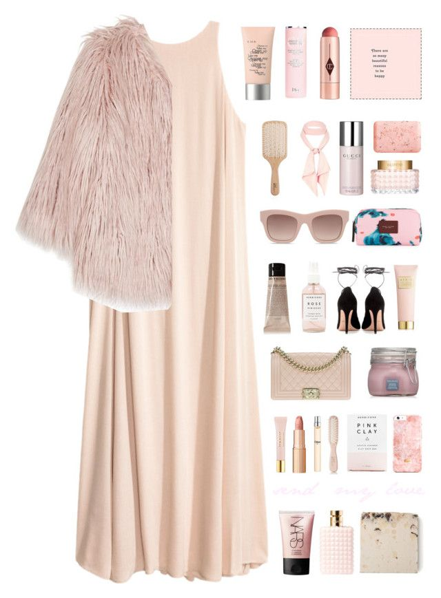 """baby."" by the-vagabond ❤ liked on Polyvore featuring Pam & Gela, Valentino, Chanel, River Island, STELLA McCARTNEY, Herbivore, Grown Alchemist, Pré de Provence, Gucci and AERIN"