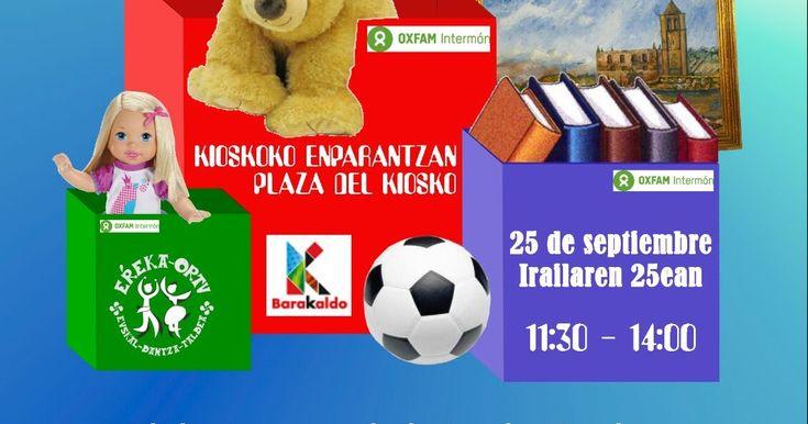 Erreka-Ortu celebra su mercadillo solidario este 25 de septiembre en favor de Oxfam Intermon