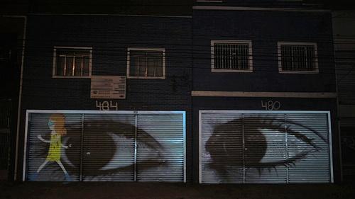 """Homeless""  VJ Suave  Street art + animation."