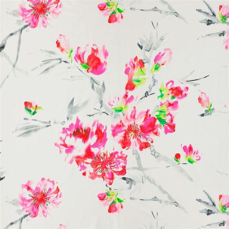 oriental flower - peony fabric | Designers Guild