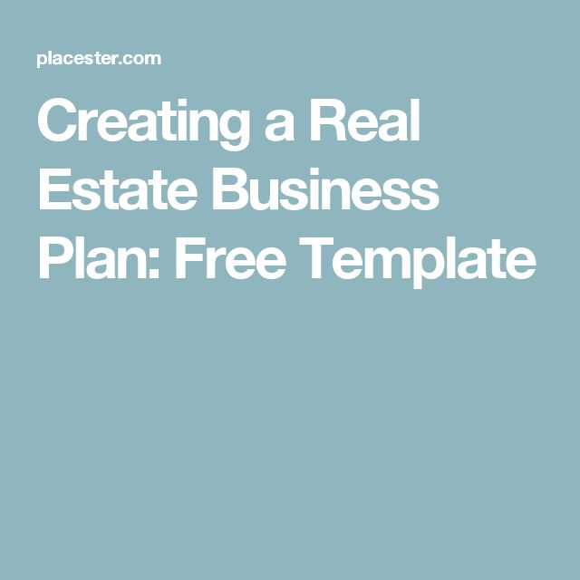 The 25 best Real estate business plan ideas – Real Estate Business Plan