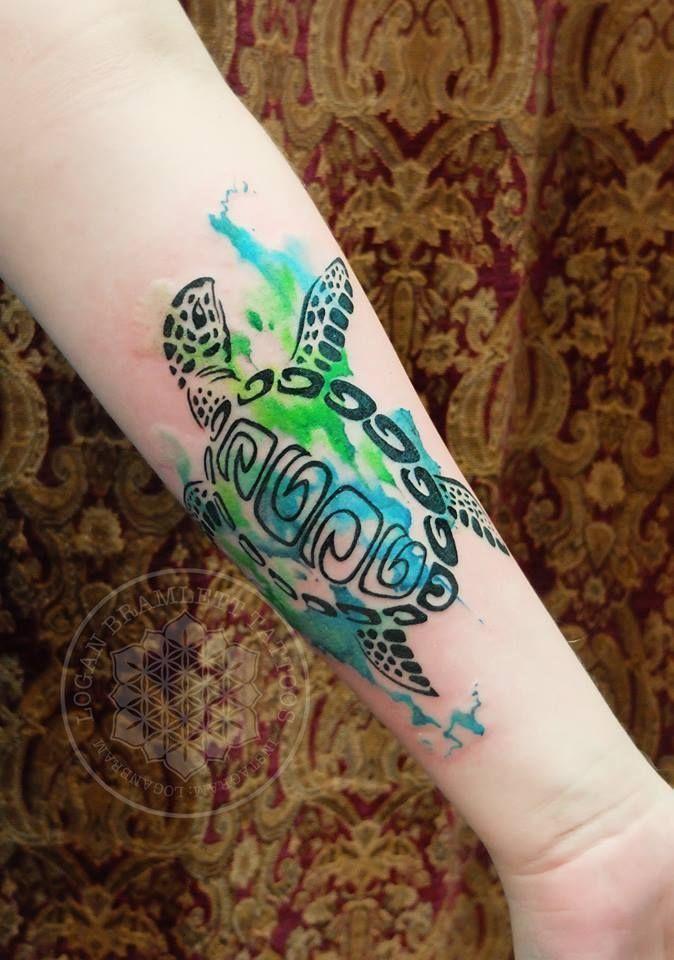 Acuarela Tortugas Marinas de tatuajes