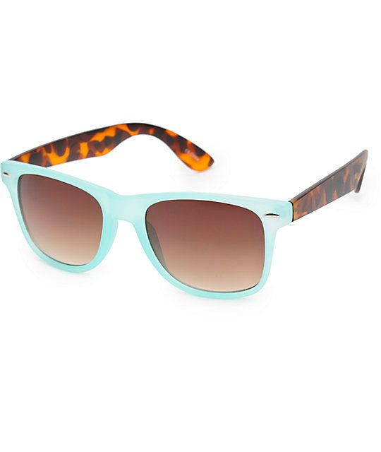 oakley sunglasses zumiez  wayfarer frames are accented by tortoise shell print arms for a dynamic look, while the dark tinted lenses offer uva and uvb protection from @zumiez