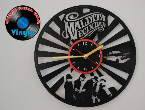 Maldita Vecindad Wall Clock Upcycled Vinyl Record LP  by VinyloUSA