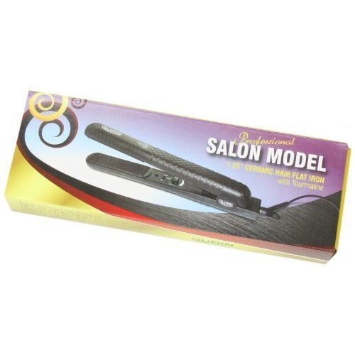 Gurin Ceramic Tourmaline Flat Iron Hair Straightener, 1.25 inch with Carrying Case ** To view further for this article, visit the image link. #hairproduct #HairStraightener