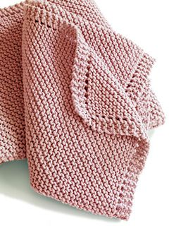 This classic baby blanket makes a great gift to new parents. (Lion Brand Yarn)