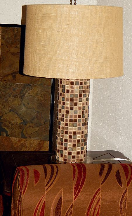 Use A Cheap Or Old Lamp PVC Pipe And Glass Tile To Create Beautiful