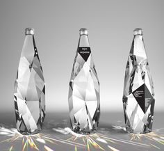 best bottle package design! water... looks like diamonds and diamonds and water must be a girls best friends!