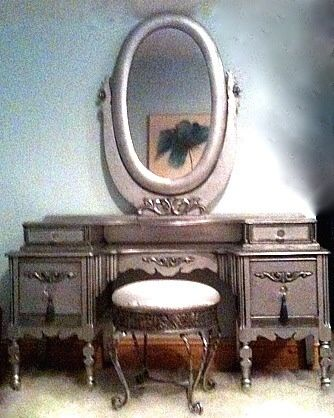 Silver Dressing Table - My first upcycle! Lovely Things by Luna Claire