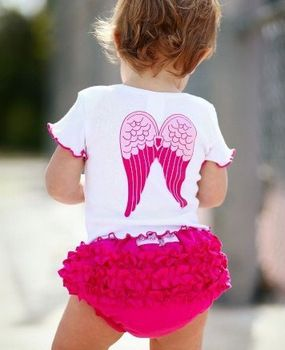 5sets/lot wholesale little girl's lovely Angel wings 2pcs summer clothing set(Top+Brief)/GS6673 Free shipping
