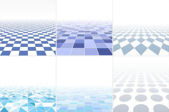 Blue tile abstract backgrounds. by ExpressShop on @creativemarket