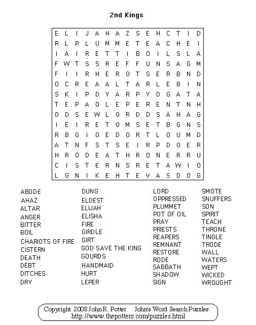 Our Free Printable Bible Games Are Fun and Valuable ...