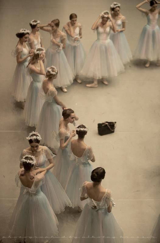 Photo by Nikolay Krusser - primping before the performance. See Krusser's photos at Moscow Ballet performances this fall