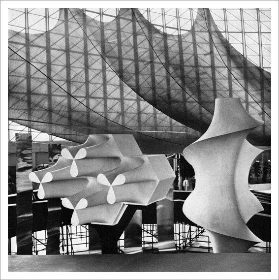 Italia 61 – Turin / architects:Leonardo Sinisgalli &Paolo Portoghesi. designer:Giovanni Ferrabini. via Aqua-Velvet. #italy #architecture #sculpture